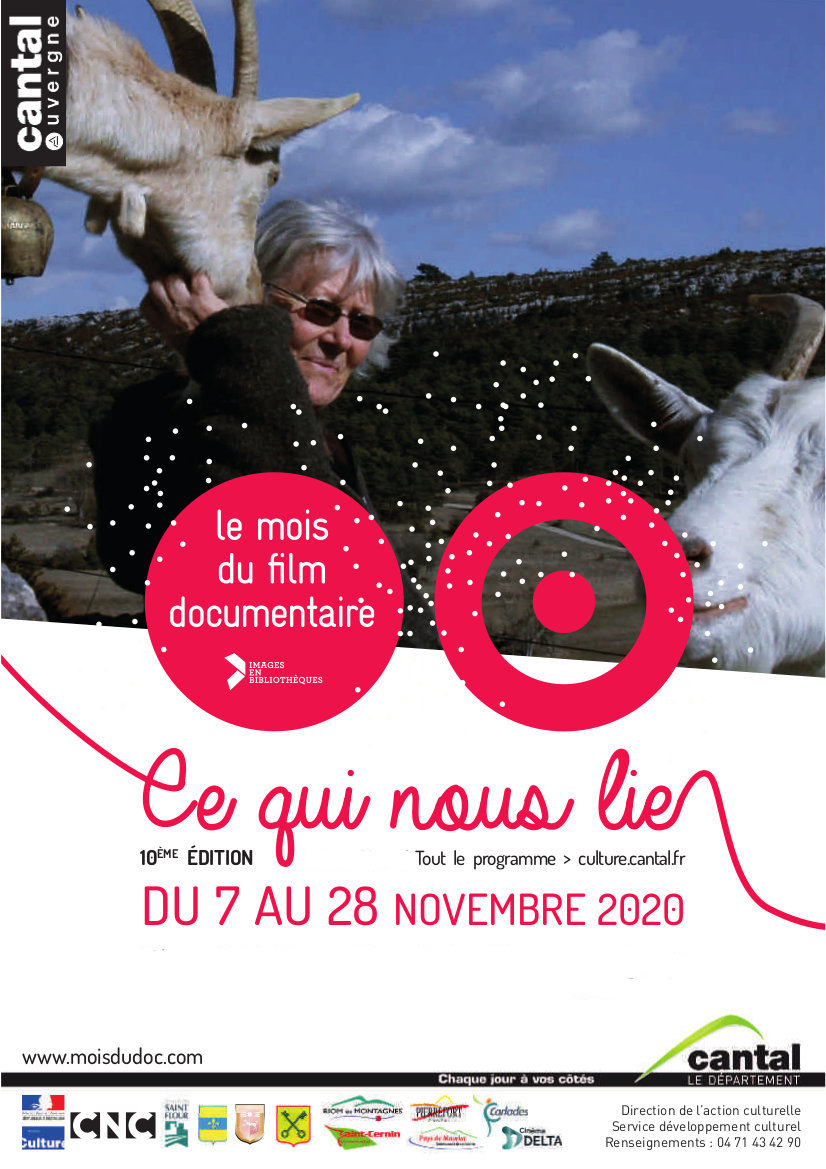 Affiche Mois du film documentaire 2020 Cantal